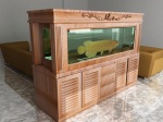 Furniture Akuarium Ikan kayu Jati