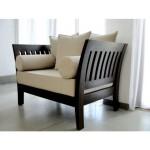 Sofa walnut 1 dudukan by CV Furniture Jepara