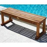 bangko panjang kolam kayu jati 125 cm