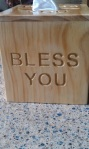 """box tisu jati model """"Bless You' Kotak tsb-033"""