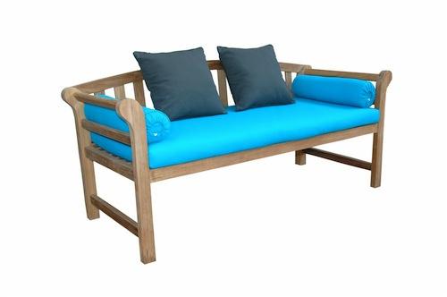 kursi sofa jati cantik bantalan biru