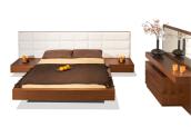 tempat tidur solid hitam dop mahoni