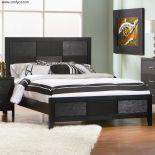 set tempat tidur patricia hitam mahoni