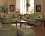 Set sofa tamu hijau mahoni