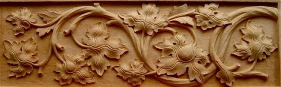 Frame ukiran daun  mahoni 90 cm