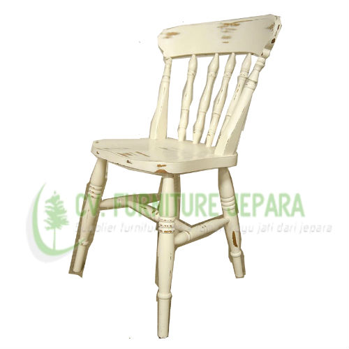 Kursi Makan Shabby White by CV Furniture Jepara