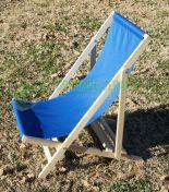 Kursi Relax Pantai Kain Biru kayu jati