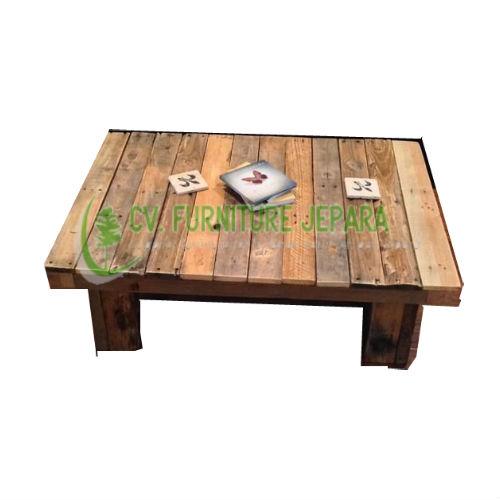 Meja Tamu Kopi Antiq Kayu Recycle by cv furniture jepara