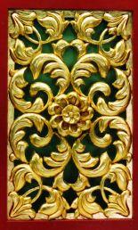 Panel frame kayu gold emas
