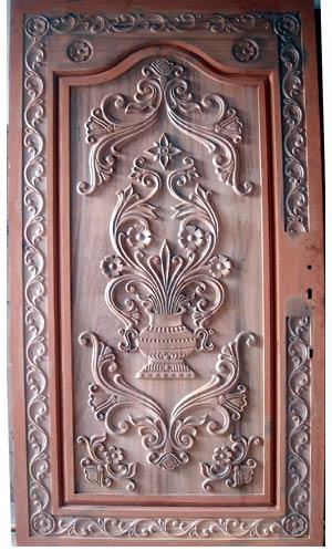 Pintu ukir klasik jepara kayu mahoni