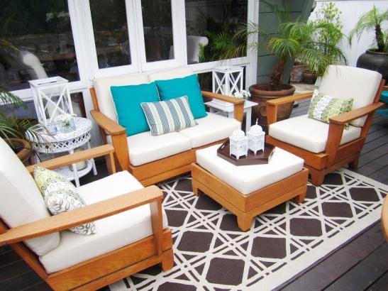 set sofa lounge jati Bali