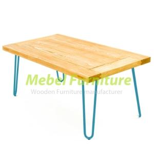 meja makan kaki besi jati