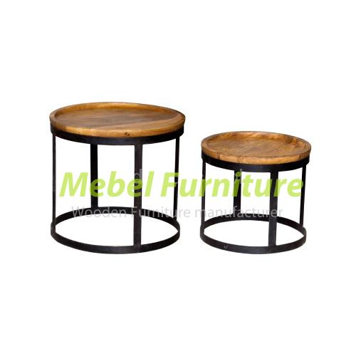 Meja Sudut Lingkaran Besi Cv Furniture Jepara