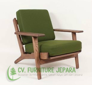 relax teak chair cushion green