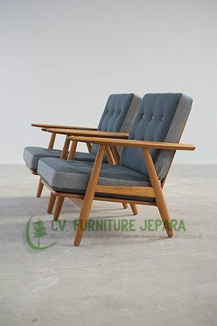 set patio relax chair teak