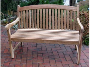 teak bench unfinish virginia